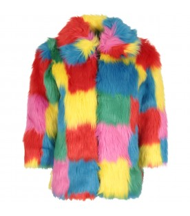 Multicolor girl faux-fur