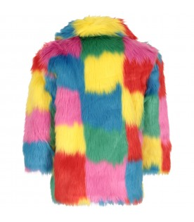 Multicolor faux-fur for girl