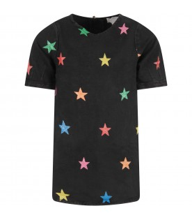 Black girl dress with colorful stars