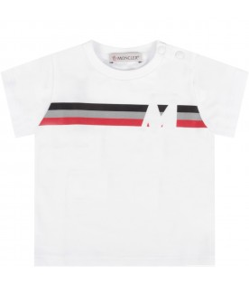 White T-shirt for baby boy