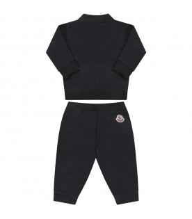 Blue babyboy suit with iconic patch