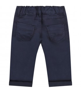 Blue pants for babykid with teddy bear