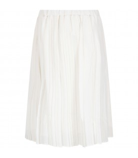 White skirt with stripes for girl