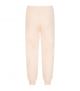 Pink sweatpant with logo for girl