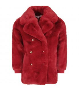 Red faux fur for girl