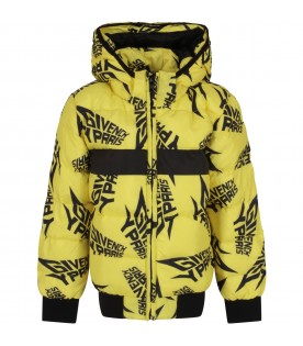 Yellow jacket with black logos for boy