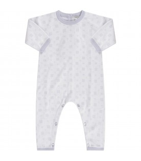 Light blue babygrow with logos for babykid