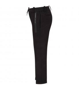 Black pants with logo for boy