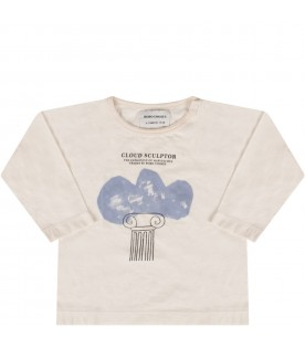 Ivory T-shirt with cloud for babykid