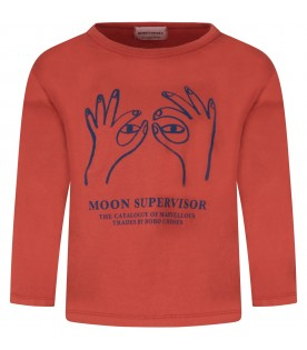 Orange T-shrt with blue writing for kid
