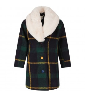 Blue coat with checks for boy