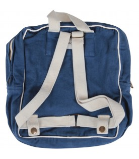 Blue backpack with print for boy