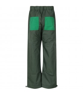 Green pant with logo for boy
