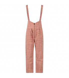 Pink pant for girl with logo