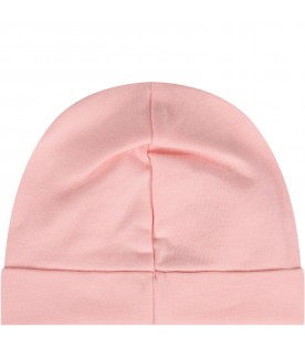 Pink beanie hat for baby girl