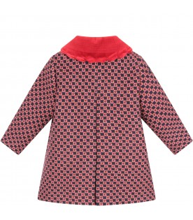 Blue coat with double GG for baby girl
