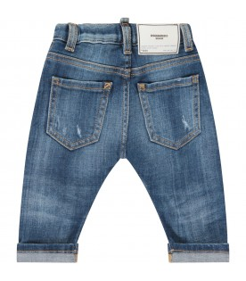 Denim jeans for baby boy with logo