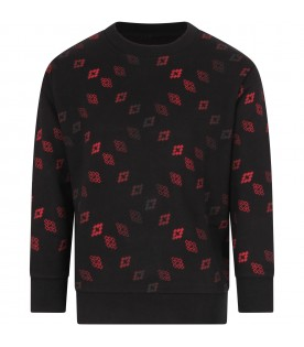 Black sweatshirt for boy with red cross