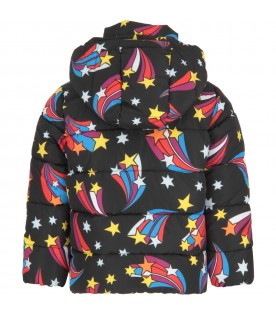 Black jakcet for girl with colorful stars