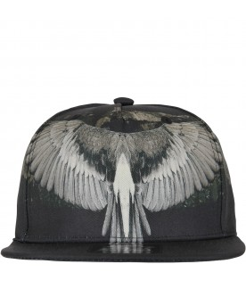 Black hat for kid with iconic wings