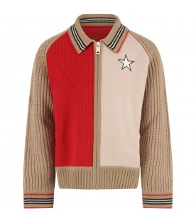 Multicolor cardigan for kids with star