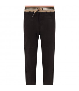 Black pant for boy pant with logo