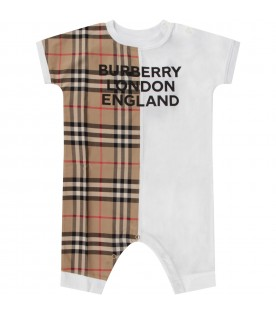 Multicolor babygrow for babykids with logo
