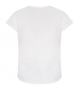 White T-shirt for girl with writing