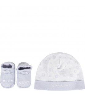 Light blue set for baby boy with logo