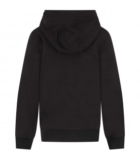 Black sweatshirt for boy with thunders.