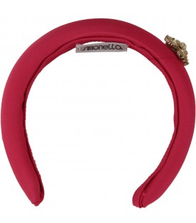 Fuchsia headband for girl