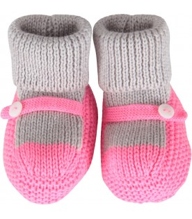 Multicolor bootee for baby girl