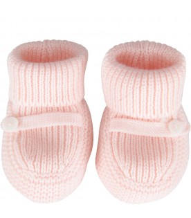 Light pink baby bootee for babygirl