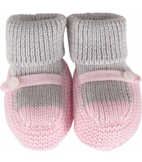 Multicolor baby bootee for baby girl