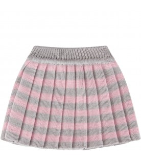 Grey and pink  skirt for babygirl