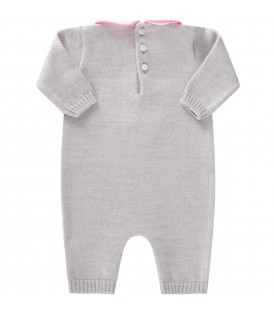 Grey babygrow for baby girl with writing