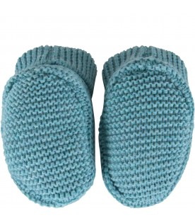 Turquiose baby bootee for babyboy