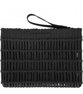 Black clutch bag for girl