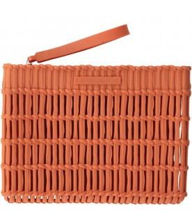 Orange clutch bag for girl