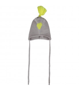 Grey hat for babykids with heart