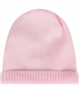 Pink hat for baby girl
