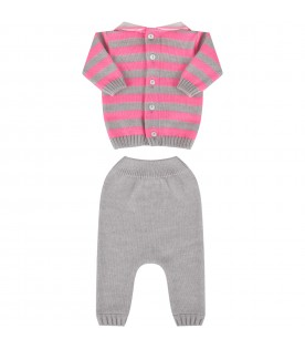 Bicolor suit for baby girl