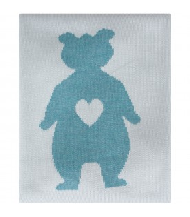 Turquoise blanket for baby boy