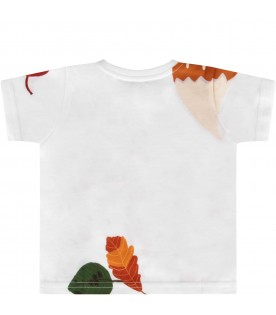 White T-shirt for bayboy with fox