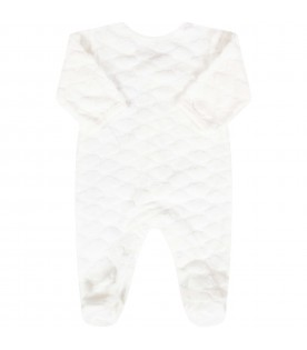 White babygrow for babykids with clouds