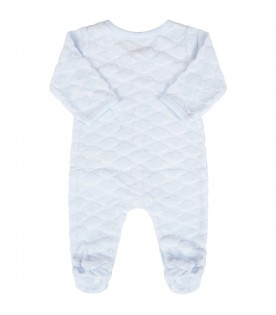 Light blue babygrow for babyboy with clouds