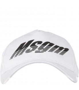 White hat for kids with logo