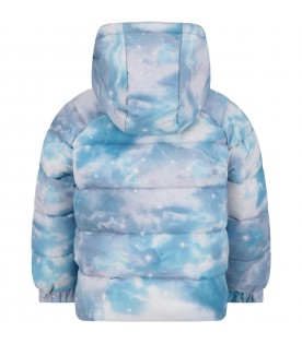 Light blue jacket for boy with horses