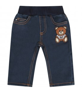 Blue jeans fro bebykids with teddy bear