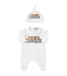 White set for babykids with teddy bears